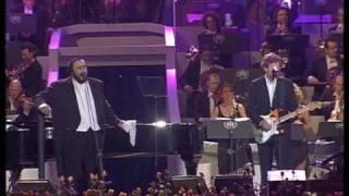 getlinkyoutube.com-Luciano Pavarotti & Eric Clapton - Holy mother Live Pavarotti and friends 2003
