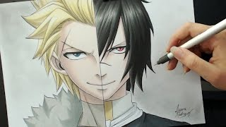 getlinkyoutube.com-Speed Drawing - Sting | Rogue (Fairy Tail)