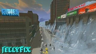Massive tsunami - Cities Skylines