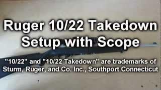 getlinkyoutube.com-Ruger 10/22 Takedown Setup w/ Scope