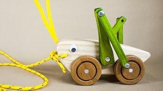 [ Promo Video ] Grasshopper Handmade Wood Pull Toy