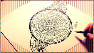 getlinkyoutube.com-Draw  A Geometrical Mandala - Step By Step - Beginners/Intermediate