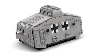 Lego WWI German A7V Tank Instructions with Parts List