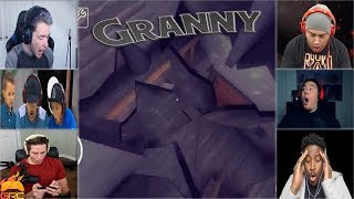 Gamers Reactions to Falling Through The Attic Floor | Granny