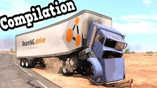 getlinkyoutube.com-BeamNG Drive - My Best Truck Crash Tests Compilation