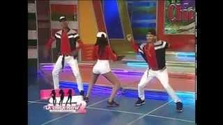 getlinkyoutube.com-Katherine Tejada alborota al publico bailando dembow en Aqui se Habla Español