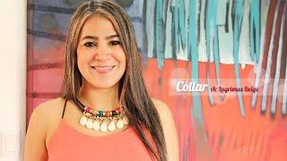 getlinkyoutube.com-Como Hacer un Collar Estilo Egipcio Con Pendientes de Acrílico y Cuero Sintético