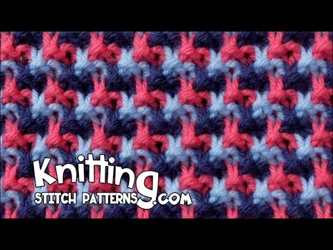 Triple L Tweed stitch | Mosiac knitting