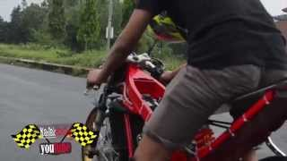 getlinkyoutube.com-2015 Drag bike | Vp mboted SETTING kawasaki ninja 155 tu C-SQUAD Creampie Jogja