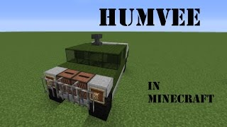 getlinkyoutube.com-How to build a Humvee in Minecraft