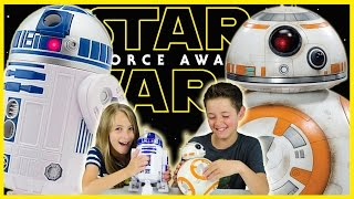 getlinkyoutube.com-*NEW* STAR WARS 7 BB-8 and R2-D2 WALKING TALKING DROIDS DISNEY TOYS REVIEW! THE FORCE AWAKENS PLP TV
