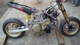 getlinkyoutube.com-HONDA MSX 125 up DUCATI 1199 Panigale's Engine
