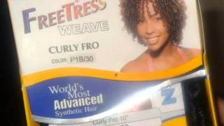 getlinkyoutube.com-Short Curly Quickweave *FreeTress Curly Fro