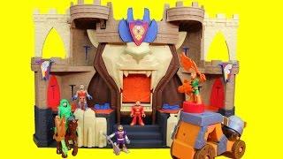 getlinkyoutube.com-Imaginext Fisher Price Lion's Den Castle Knights Battle Ninja Warriors & DC Slade