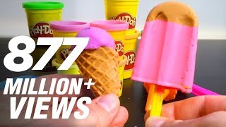 getlinkyoutube.com-Play Doh Ice cream cupcakes playset playdough by Unboxingsurpriseegg