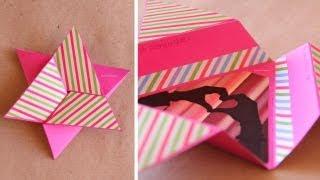 getlinkyoutube.com-Tarjeta Estrella Scrapbook [FACIL] // Star card DIY