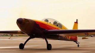 getlinkyoutube.com-Aerobatics - Extra 300 - part 1 - aircraftfamiliarization- POV Flying - ATC audio