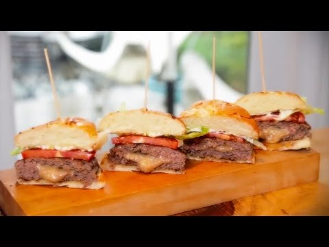 Irish Stout Cheese Stuffed Burgers