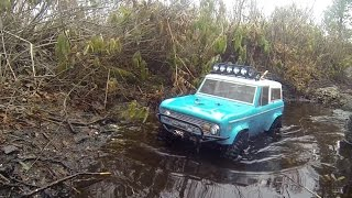 getlinkyoutube.com-Mica Trails - RC4WD TF2 Ford Bronco Vaterra Axial Bomber SCX STRC SWB Jeep