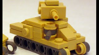 LEGO micro tank m3 grant I M3 Lee instruction mini