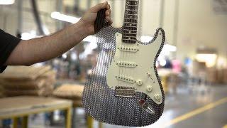 getlinkyoutube.com-Cardboard Guitar Stratocaster Fender : Cardboard Chaos