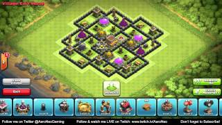 getlinkyoutube.com-BEST Town Hall Level 8 (TH8) Defense: Clan War/Trophy Base: 4 Mortars Setup #1 (Clash of Clans)