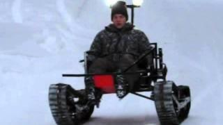 """getlinkyoutube.com-Tracked vehicle """"TelaKart"""" testing 3."""