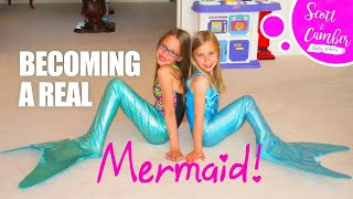 MERMAID TAIL SURPRISE! -  LIVE MERMAIDS IN OUR HOUSE!!!!
