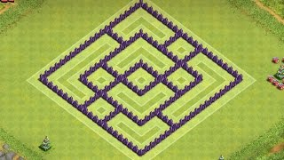 getlinkyoutube.com-CLASH OF CLANS - TH7 FARMING BASE BEST TOWN HALL 7 Defense With Air Sweeper