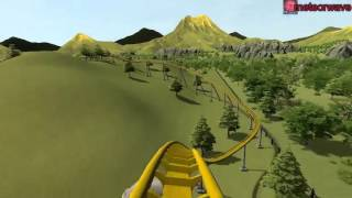 getlinkyoutube.com-Let's Ride a Roller Coaster! - Mammoth POV | Rollercoaster Tycoon World!