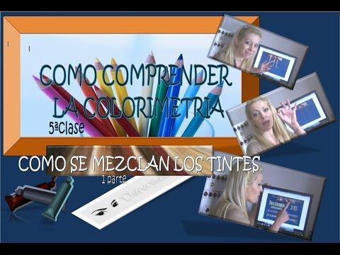 COMO COMPRENDER LA COLORIMETRIA 5. MEZCLAR TINTES