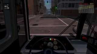 getlinkyoutube.com-Bus-Cable car simulator, San Francisco. Троллейбус, медленный график.