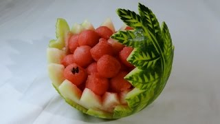 getlinkyoutube.com-WATERMELON CARVED by J.Pereira Art Carving Fruits and vegetables