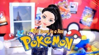 getlinkyoutube.com-DIY - How to Make:  Doll Room in a Box: POKEMON - Handmade - Room - Decor