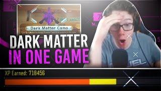 "getlinkyoutube.com-WORLDS MOST XP! UNLOCKING ""DARK MATTER CAMO"" IN 1 GAME! (Black Ops 3 Dark Matter)"