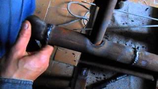 getlinkyoutube.com-Как сделать врезку одной трубы в другую электросваркой