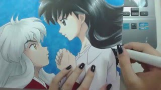"getlinkyoutube.com-Speed Drawing - Inuyasha and Kagome (InuYasha) ""Valentine's Week"""