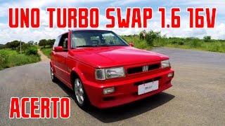 getlinkyoutube.com-Fiat Uno Turbo Swap 1.6 16V, revisão e acerto @ 1bar e booster @ 1,5bar