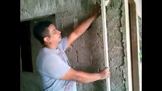getlinkyoutube.com-Como rebocar parede passo a passo faça você mesmo dicas fácil parte 1