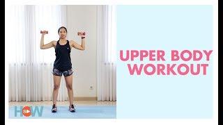 Mengencangkan otot Dada, Payudara, Bahu, dengan latihan dumbbell | Fitness di Rumah