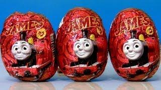 getlinkyoutube.com-Surprise Eggs Thomas & Friends Ovos de Chocolate Surpresa do Thomas e Seus Amigos Review