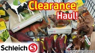 getlinkyoutube.com-Schleich Clearance Haul! ~ Horses, Dinosaurs, & Animals!