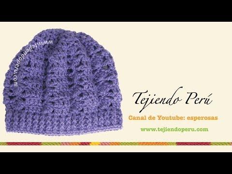 Boina tejida en crochet (slouchy beret) Parte1