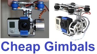 getlinkyoutube.com-Cheap 2-axis Brushless Gimbal Comparison
