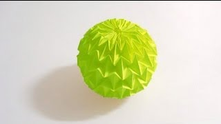 getlinkyoutube.com-Origami Magic Ball Tutorial (Yuri Shumakov) HD!