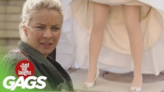 getlinkyoutube.com-Kid Disappears Under Wedding Dress - Just For Laughs Gags