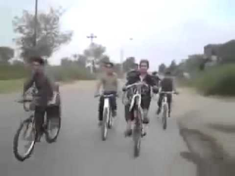 Dangerous Wheeling without Tyre Must Watch Pakistani funny clips 2013 new