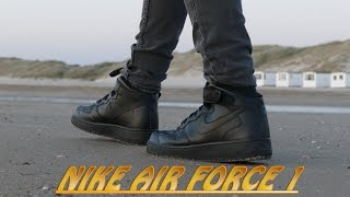 getlinkyoutube.com-Nike Air Force 1 (Black) - On Feet (4K Drone Shot)