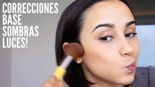 getlinkyoutube.com-MI RUTINA: Correcciones, base, sombras y luces !