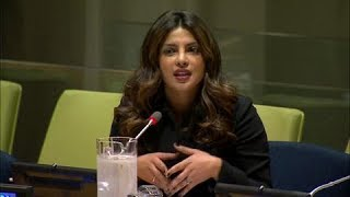 Priyanka Chopra (UNICEF Goodwill Ambassador) on eliminating violence against women & girls